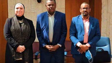 نيفين جامع مع الوزيرين السودانيين