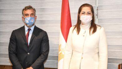 وزيرة التخطيط مع مسؤول اليونيسيف